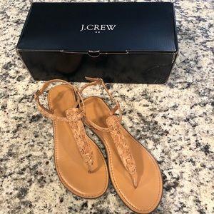 J.Crew Factory Cork T Strap Sandals